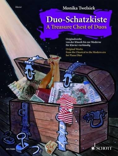 »Duo-Schatzkiste«. 22 Originalwerke von der Klassik bis zur Moderne für Klavier zu vier Händen, erschienen bei Schott Music (ISBN: 978-3-7957-4826-5)