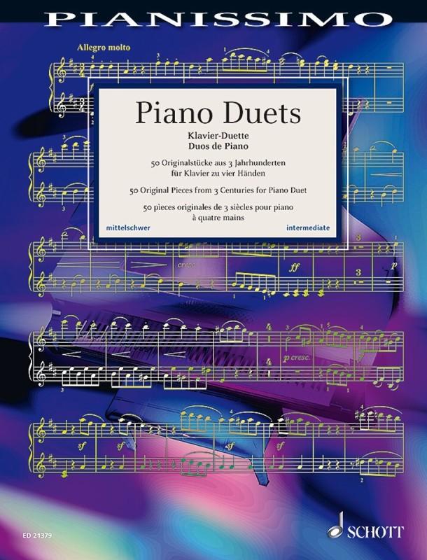 »Piano Duets«. 50 Originalstücke aus drei Jahrhunderten für Klavier zu vier Händen, erschienen bei Schott Music (ISBN 979-0001187633)