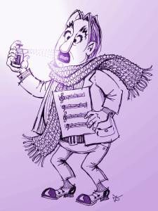 »Des Sängers Fluch«. Karikatur von Johannes Dropmann (© Redaktion ALUAN)