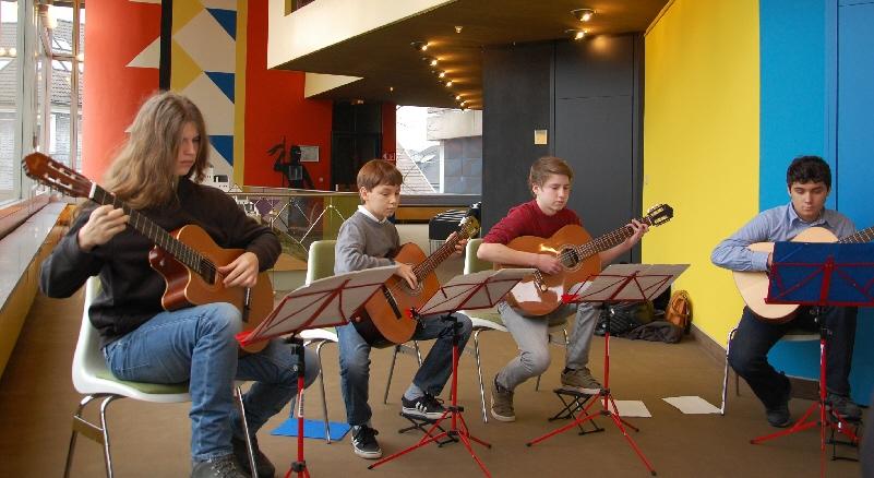 Gitarren-Quartett der Musikschule Schwelm